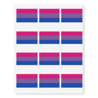 Bisexual Pride Flag Temporary Tattoos