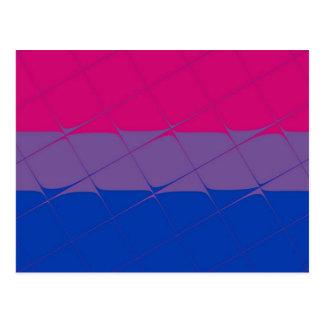 Bisexual Pride Flag Tiled Postcard