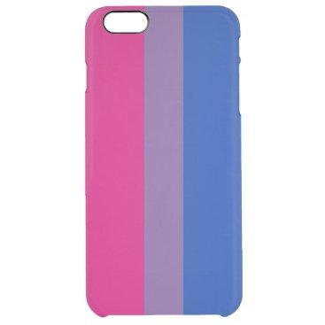 Bisexual Pride Flag Clear iPhone 6 Plus Case