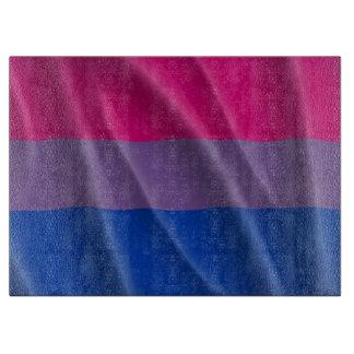 BISEXUAL PRIDE FLAG WAVY DESIGN - 2014 PRIDE.png Cutting Board