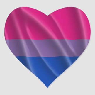 BISEXUAL PRIDE FLAG WAVY DESIGN - 2014 PRIDE.png Heart Sticker