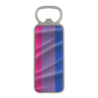 BISEXUAL PRIDE FLAG WAVY DESIGN - 2014 PRIDE.png Magnetic Bottle Opener