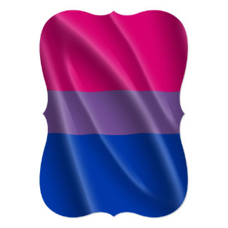 "BISEXUAL PRIDE FLAG WAVY DESIGN 5"" X 7"" INVITATION CARD"