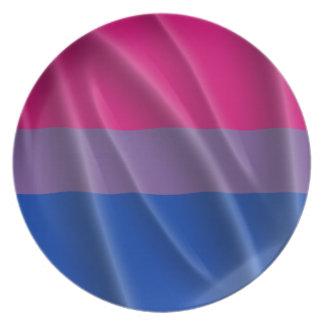 BISEXUAL PRIDE FLAG WAVY DESIGN PLATES