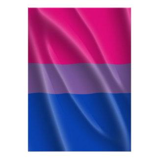 BISEXUAL PRIDE FLAG WAVY DESIGN -.png Custom Invitations