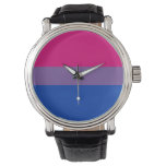 Bisexual Pride Flag Wrist Watches at Zazzle