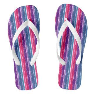 Bisexual Pride Flip Flops