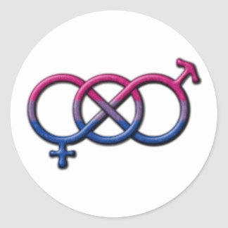 Bisexual Pride Gender Knot Classic Round Sticker