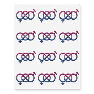 bisexual pride gender knot temporary tattoos
