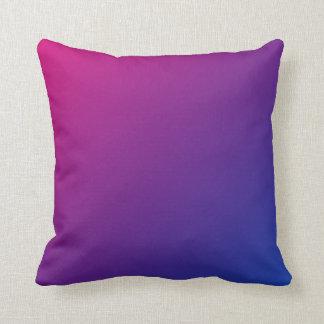 Bisexual pride gradient throw pillow