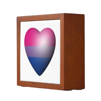 BISEXUAL PRIDE HEART DESK ORGANIZERS