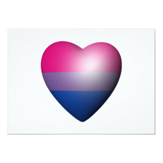 "BISEXUAL PRIDE HEART 5"" X 7"" INVITATION CARD"