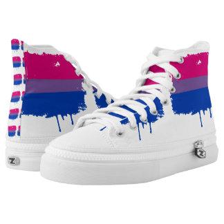 Bisexual Pride High-Top Sneakers