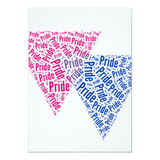 "BISEXUAL PRIDE 5"" X 7"" INVITATION CARD"