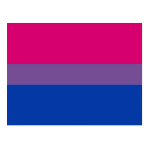 Bisexual Pride postcards