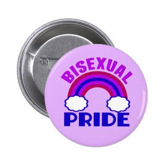 Bisexual Pride Purple Rainbow Pinback Button