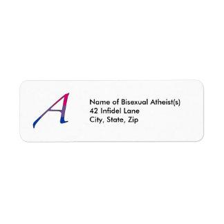 """Bisexual Pride """"Scarlet"""" Letter A Address Labels"""