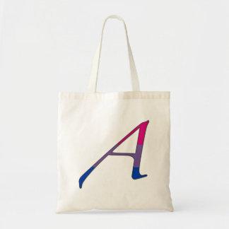 """Bisexual Pride """"Scarlet"""" Letter A Tote Bag"""