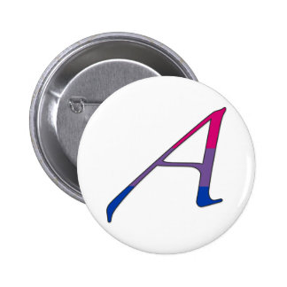 "Bisexual Pride ""Scarlet"" Letter A Pinback Buttons"
