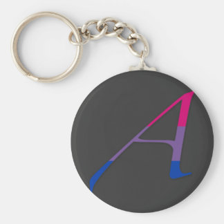 "Bisexual Pride ""Scarlet"" Letter A Keychain"