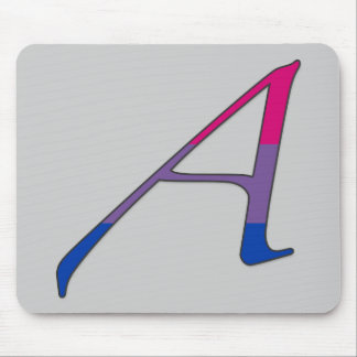 """Bisexual Pride """"Scarlet"""" Letter A Mouse Pad"""