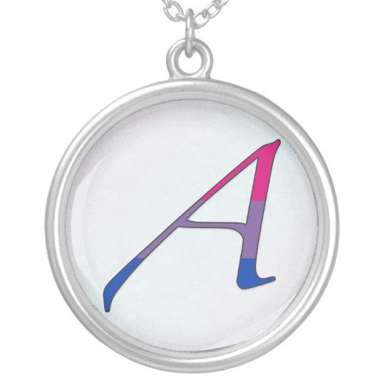 "Bisexual Pride ""Scarlet"" Letter A Necklace"