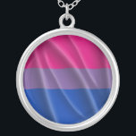 """BISEXUAL PRIDE SILVER PLATED NECKLACE<br><div class=""""desc"""">FIND MORE GAY APPAREL AT: http://www.GlbtShirts.com Celebrate your pride from &quot;Gay&quot; to &quot;Z&quot; - Gay,  Lesbian,  Bi,  Trans,  Queer,  and Intersexed Apparel for everyone. Gay T-shirts,  Lesbian T-shirts,  Gay Pride Gear,  Gay Humor Tees,  Gay Stickers,  Gay Buttons,  Gay Mugs,  and more! http://www.GlbtShirts.com</div>"""