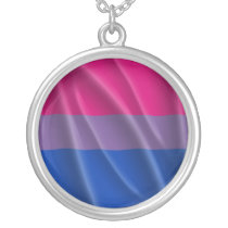 BISEXUAL PRIDE SILVER PLATED NECKLACE