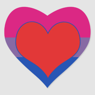Bisexual Pride Heart Sticker