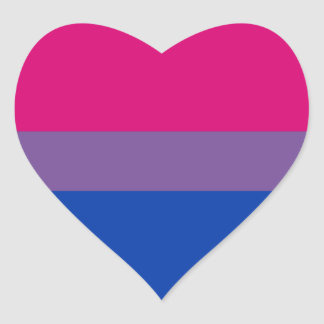 Bisexual Pride stickers - hearts