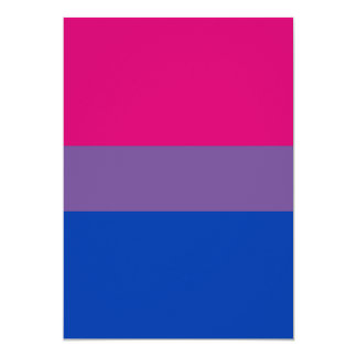 "BISEXUAL PRIDE STRIPED HORIZONTAL 5"" X 7"" INVITATION CARD"