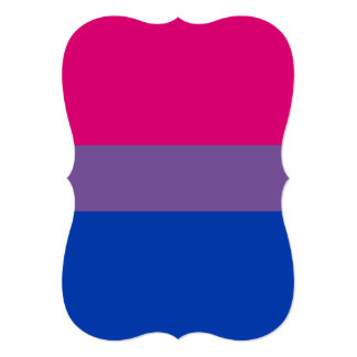 BISEXUAL PRIDE STRIPED HORIZONTAL PERSONALIZED ANNOUNCEMENTS