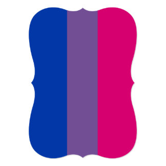 BISEXUAL PRIDE STRIPED VERTICAL PERSONALIZED ANNOUNCEMENT