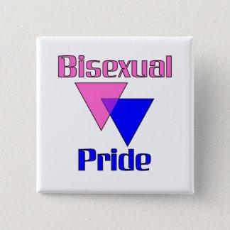Bisexual Pride/Triangles Button (Square)