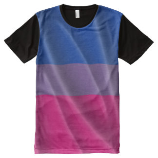 BISEXUAL PRIDE WAVY VERTICAL - 2014 PRIDE.png All-Over Print T-shirt
