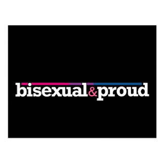 Bisexual&proud Black Postcard