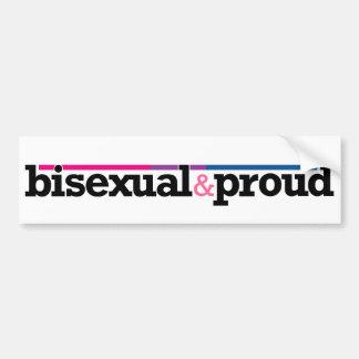 Bisexual&proud White Bumper Sticker Car Bumper Sticker