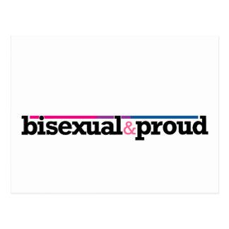 Bisexual&proud White Postcard