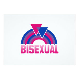 BISEXUAL RAINBOW FLAG PERSONALIZED ANNOUNCEMENTS