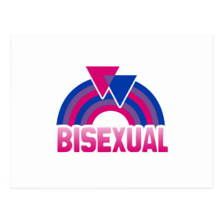 BISEXUAL RAINBOW FLAG POST CARDS