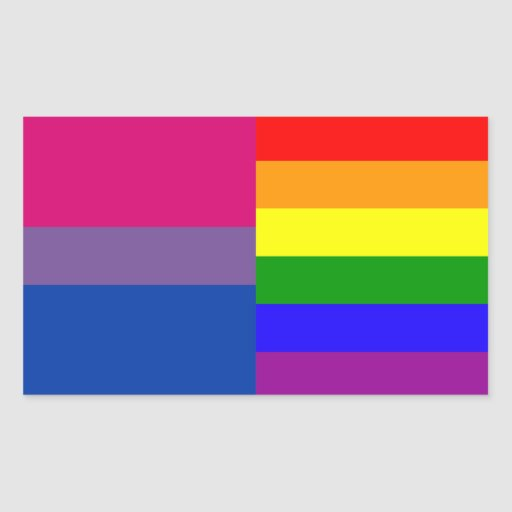 Bisexual/rainbow flag stickers
