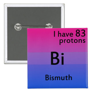 Bisexual science 2 inch square button