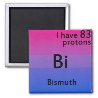 Bisexual science 2 inch square magnet