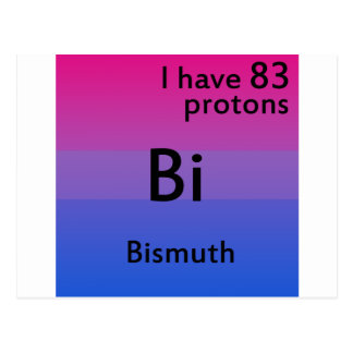 Bisexual science postcard