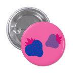 Bisexual Strawberries button (pink)