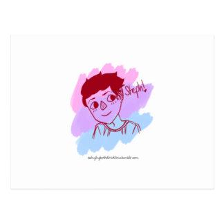 Bisexual Symbol and Flag Postcard