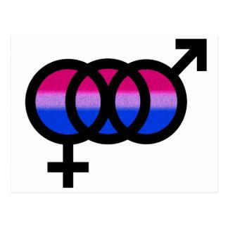 Bisexual Symbol Postcard