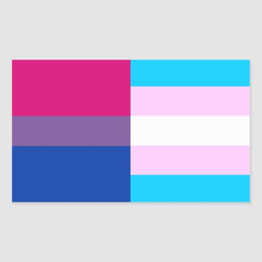 Bisexual/trans pride flags sticker