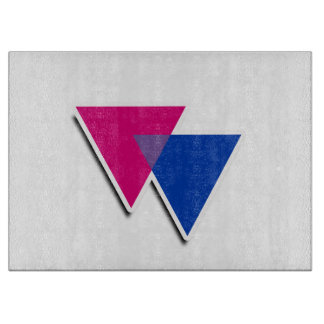 BISEXUAL TRIANGLE SYMBOL 3D CUTTING BOARDS