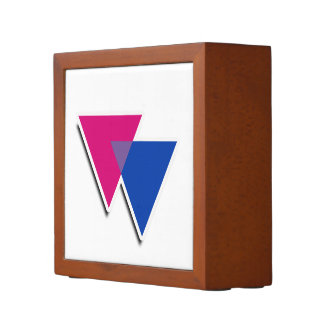 BISEXUAL TRIANGLE SYMBOL 3D -.png Pencil Holder